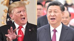 【左】トランプ米大統領【右】習近平・中国国家主席