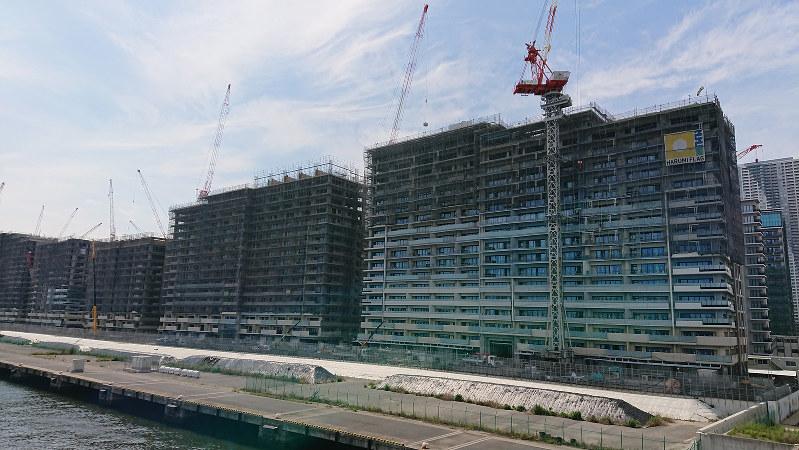 建設が進む晴海フラッグ
