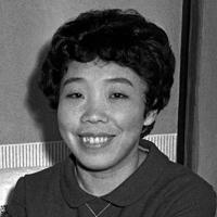 田辺聖子さん=1965(昭和40)年、片山英一郎撮影