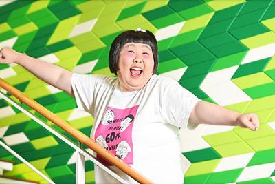 60周年を迎える吉本新喜劇で座長を務める酒井藍=大阪市北区で、山崎一輝撮影