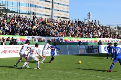 チケットが完売した視覚障害者5人制サッカー(ブラインドサッカー)ワールドグランプリ1次リーグの日本-スペイン戦=3月21日