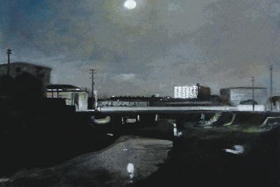 「月」(油彩、2018年)