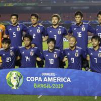サッカー南米選手権【日本-チリ】チリ戦に臨む日本の先発メンバー=ブラジル・サンパウロで2019年6月17日、AP