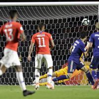 サッカー南米選手権【日本-チリ】後半、チリの2点目が決まる=ブラジル・サンパウロで2019年6月17日、AP