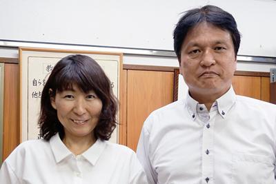 PTA改革に取り組んだ今関明子さん(左)と福本靖さん=神戸市垂水区で、反橋希美撮影