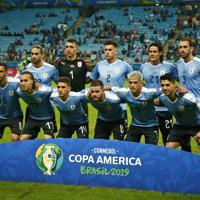 サッカー南米選手権【日本-ウルグアイ】ウルグアイの先発イレブン=ブラジル・ポルトアレグレで2019年6月20日、AP