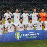 サッカー南米選手権【日本-ウルグアイ】日本の先発イレブン=ブラジル・ポルトアレグレで2019年6月20日、AP
