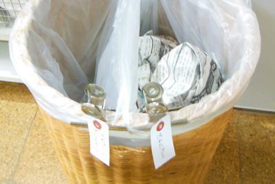 [1]土井さん宅の生ゴミ用ゴミ箱にはふたがない