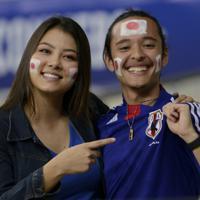 サッカー南米選手権【日本-エクアドル】試合開始を待つ日本のサポーター=ブラジル・ベロオリゾンテで2019年6月24日、AP