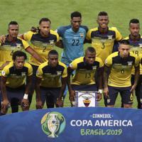 サッカー南米選手権【日本-エクアドル】エクアドルの先発イレブン=ブラジル・ベロオリゾンテで2019年6月24日、AP