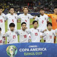 サッカー南米選手権【日本-エクアドル】日本の先発イレブン==ブラジル・ベロオリゾンテで2019年6月24日、AP