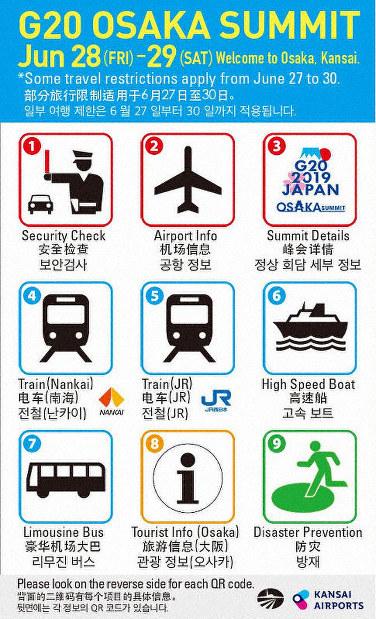 &nbspOsaka nago-offer ng multilingual cards na kapaki-pakinabang sa mga foreigners sa darating na G-20