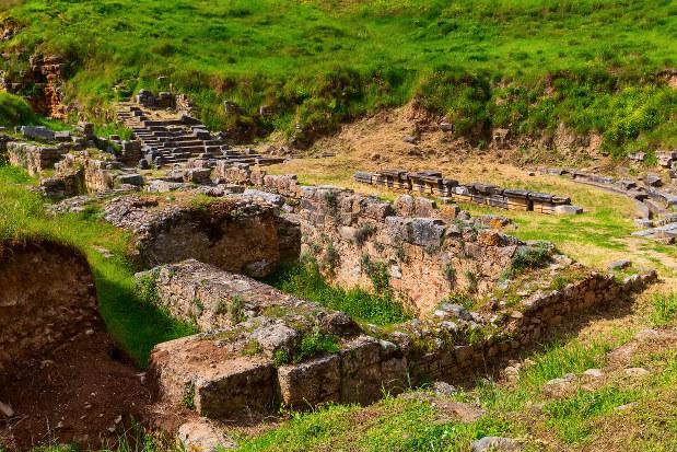 ギリシア・ペロポネソス半島に残る古代都市スパルタの遺跡