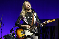 In this Nov, 5, 2018 file photo, Sheryl Crow performs at the Elton John AIDS Foundation's 17th annual