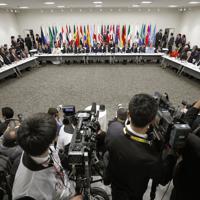 G20サミットで行われたデジタル経済に関する首脳特別イベント=大阪市で2019年6月28日午後0時17分(代表撮影)