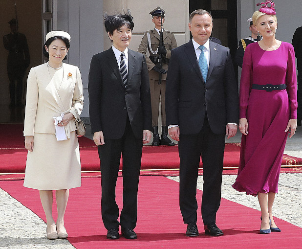 Japanese Crown Prince Wife Begin Tour Of Poland The Mainichi
