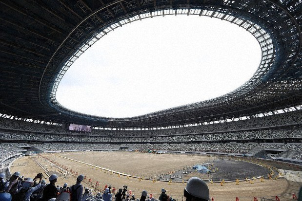 Image result for TOKYO NATIONAL STADIUM COMPLETED