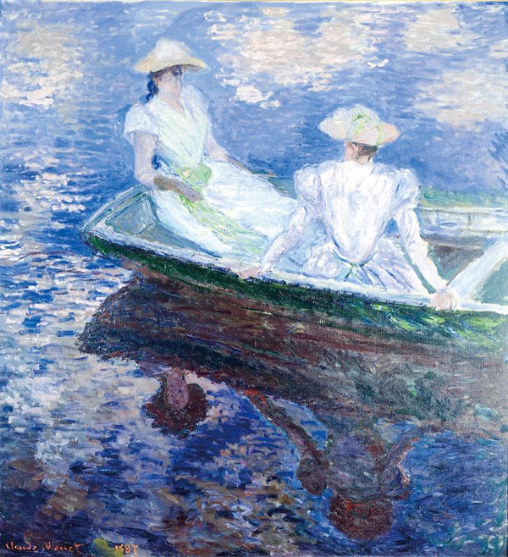 クロード・モネ《船遊び》 1887年 油彩、カンヴァス 国立西洋美術館(松方コレクション)