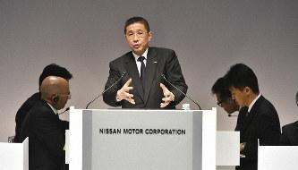 株主総会に臨む日産自動車の西川広人社長=日産提供