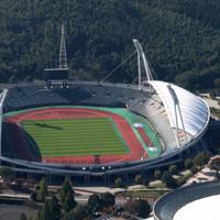 熊本県民総合運動公園陸上競技場(えがお健康スタジアム)=ラグビー・ワールドカップ2019組織委員会熊本地域支部提供