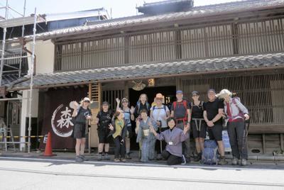 大湫宿の情報拠点「丸森邸」で全員集合!江戸時代の生活が再現されている