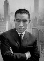 Author Yukio Mishima is pictured in New York. (Mainichi)