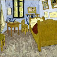 フィンセント・ファン・ゴッホ「アルルの寝室」1889年、オルセー美術館Paris, musée d'Orsay, cédé aux musées nationaux en application du traité de paix avec le Japon, 1959