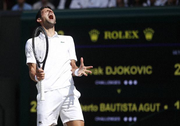 Wimbledon Djokovic Wins Longest Point Ever Recorded The Mainichi