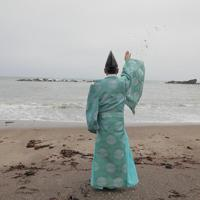 9年ぶりの海開きを迎える久之浜・波立海水浴場で行われた安全祈願=福島県いわき市で2019年7月13日午前10時19分、和田大典撮影