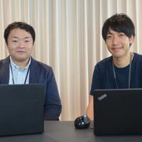 約1年間の育休を取得した向井宏彰さん(左)。部下の加藤光太郎さんは「育休を取ると聞いて、シンプルにいいなと思いました。終わってみればあっという間でした」と振り返る
