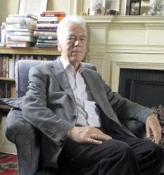 Professor Robert Tombs, a historian and supporter of the U.K.'s decision to leave the EU, is seen in Cambridge, England, on June 14, 2019. (Mainichi/Masanori Hattori)