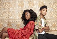 This July 10, 2019 photo shows Shahadi Wright Joseph, left, and JD McCrary posing for a portrait at the Montage Hotel in Beverly Hills, Calif., to promote their film