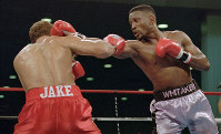 In this Nov. 18, 1995, file photo, WBC welterweight champion Pernell