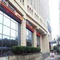北京市内にある包商銀行の店舗。公的管理発表後も通常通り窓口業務が行われていた=赤間清広撮影
