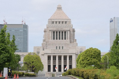 国会議事堂=東京都千代田区で2019年5月1日、川田雅浩撮影