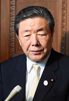 Liberal Democratic Party Diet Affairs Committee Chairman Hiroshi Moriyama (Mainichi/Masahiro Kawata)