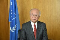 IAEA Director-General Yukiya Amano is seen in Vienna in this Sept. 15, 2017 file photo. (Mainichi)