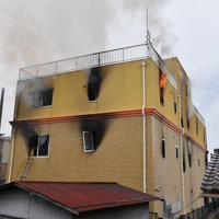 火災があった「京都アニメーション」第1スタジオ=京都市伏見区で2019年7月18日午後0時1分、川平愛撮影