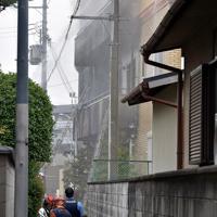 火災があった「京都アニメーション」第1スタジオ=京都市伏見区で2019年7月18日午後0時9分、川平愛撮影