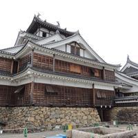 大小二つの天守が建つ福知山城=京都府福知山市で、大森顕浩撮影