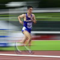 男子10000メートル決勝(知的障害T20)で優勝した藤本=岐阜メモリアルセンター長良川競技場で2019年7月20日、藤井達也撮影