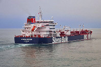 In this undated photo issued by Stena Bulk on July 19, 2019, the British oil tanker Stena Impero, which is believed to have been captured by Iran, is seen at unknown location. (Stena Bulk via AP)