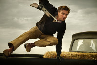 This image released by Sony Pictures shows Leonardo DiCaprio in Quentin Tarantino's