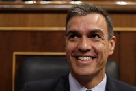 Spain's caretaker Prime Minister Pedro Sanchez arrives at the Spanish parliament in Madrid, Spain, on July 23, 2019. (AP Photo/Manu Fernandez)
