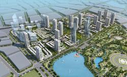 ベトナムでの不動産完成予想図。今後はさらに大規模な開発を目指す(三菱商事提供)