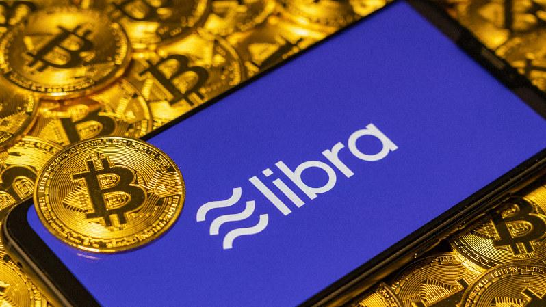 スマートフォンに表示されたリブラのロゴ
