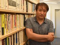 東浩紀さん=東京都品川区で2019年6月25日午後3時20分、待鳥航志撮影