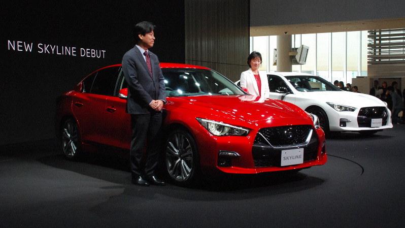 秋のモーターショーを前に新車発表が相次ぐ=横浜市内の日産本社で7月16日、川口雅浩撮影