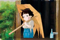 『火垂るの墓』セル付き背景画(c)野坂昭如/新潮社、1988