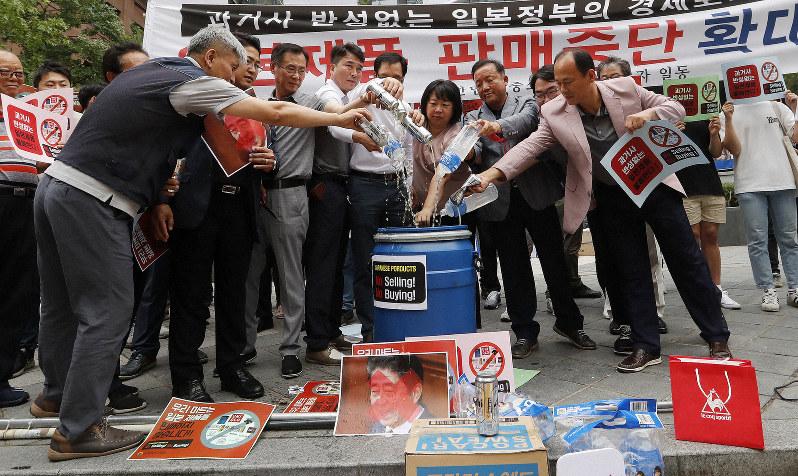 S  Koreans shun Japanese beer, travel, cars as disputes grow